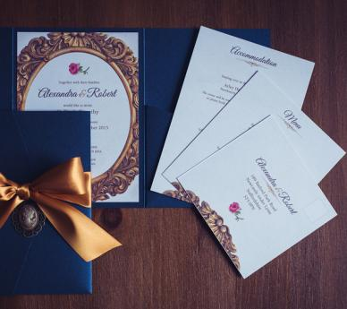 beauty the beast - Beauty And The Beast Wedding Invitations