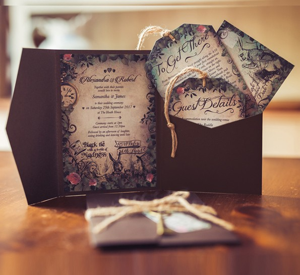 Alice And Wonderland Wedding Invitations: Gorgeous Invites